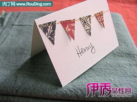 圣诞节卡片diy--碎布手工制作圣诞节创意贺卡