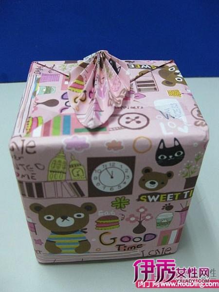 一种包装纸盒手工制作 收纳盒的折法