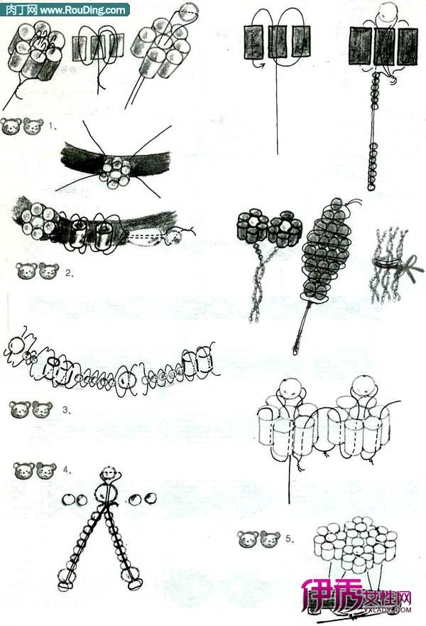 可爱的手工串珠手镯制作方法图解