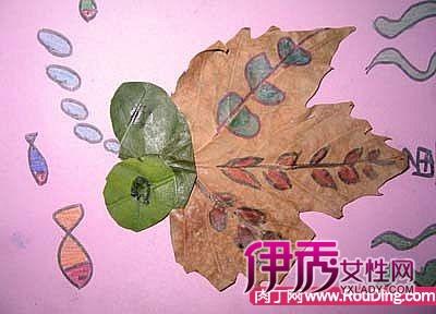 树叶拼贴画-儿童手工制作创意