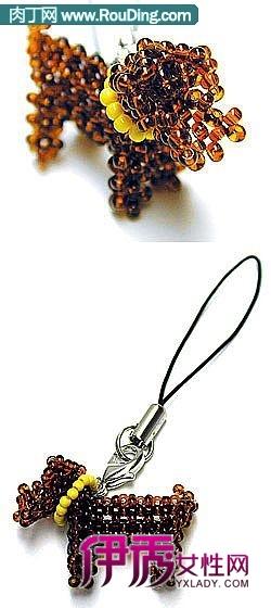 1000个手工串珠饰品欣赏一—水晶挂件,钥匙链,水晶手机挂件