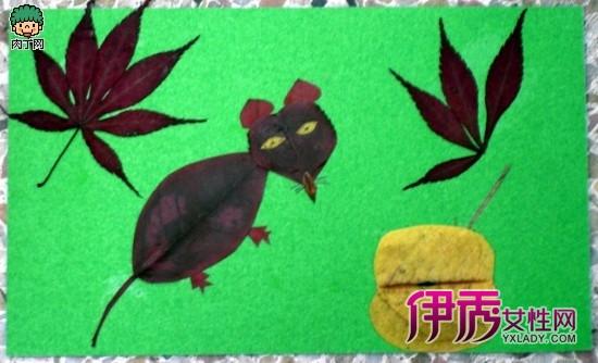 小学生手工制作—创意落叶拼贴,树叶装饰画