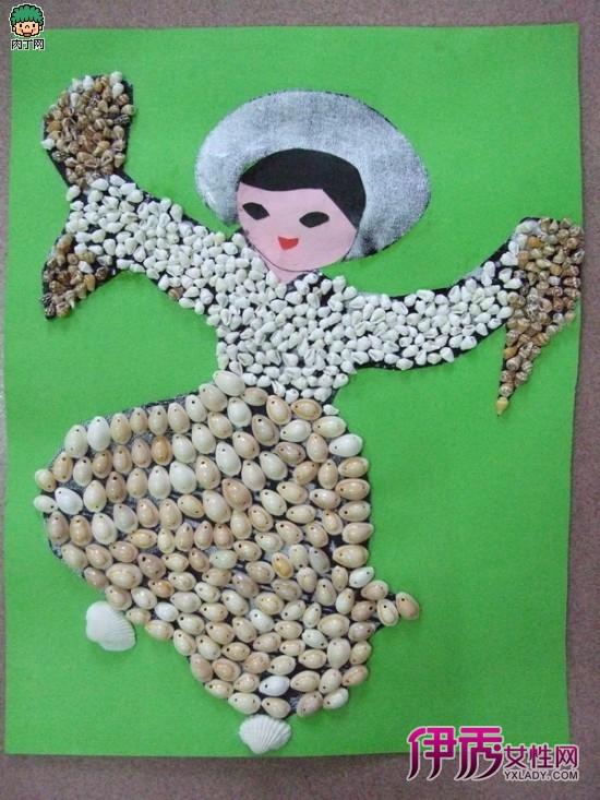 亲子蛋壳创意拼贴画_蛋壳拼贴画教案_蛋壳拼贴画图片_天羽图网图片