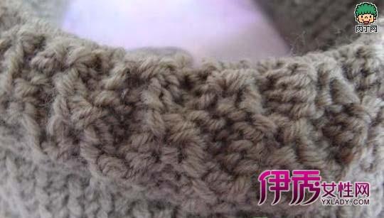 韩版流行针织帽子棒针编织图解
