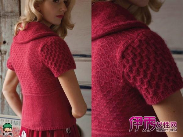 时尚的手工棒针女士毛衣编织款式