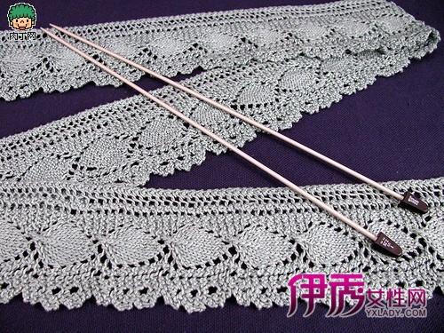 毛衣编织叶子花边-钩针编织花边的做法