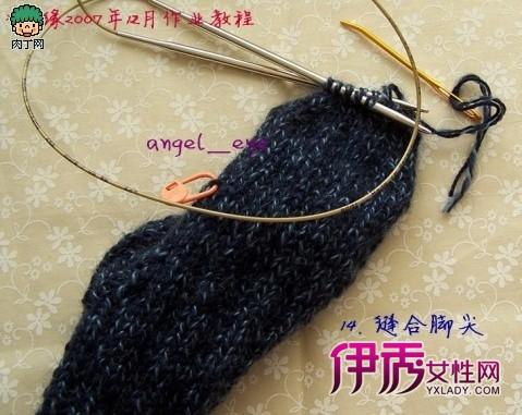手工编织毛线袜子—diy毛线袜子编织方法