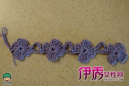 连续花形长围巾钩针编织花样