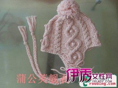 手工编织纯色护耳飞行帽教程