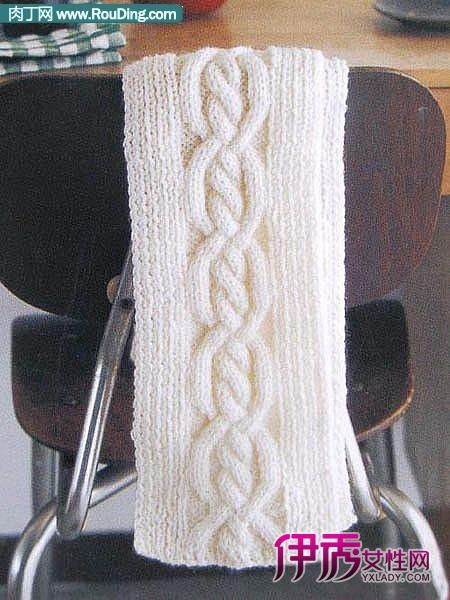 快来看男士围巾细线编织花样图解吧