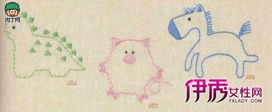 儿童毛衣刺绣图案-家里手工刺绣超可爱童话素材