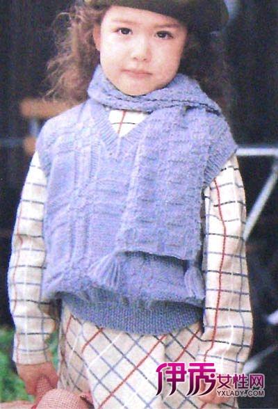 两款漂亮可爱的儿童毛衣图片的编织花样下面是详细