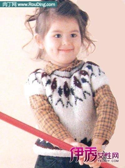 儿童毛衣图片-花样编织图解4款