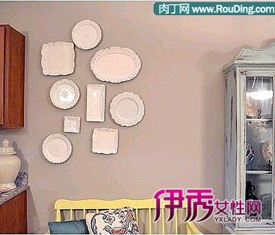 教你用盘子手工制作墙壁画-摆出来