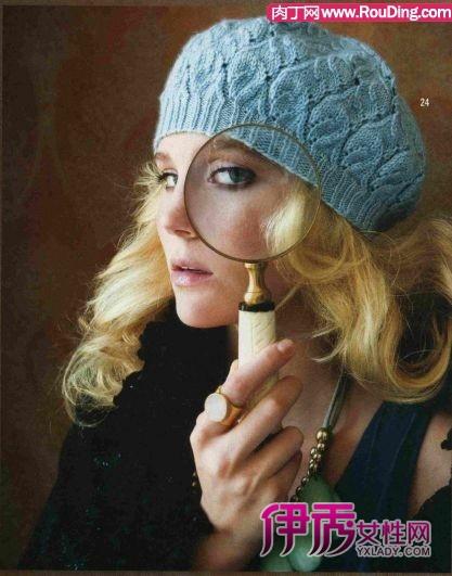 螺旋帽子的编织方法 两款毛线帽子的编织方法图解