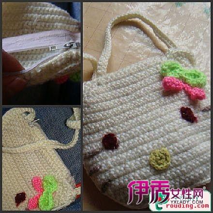 钩针编织-kitty小包包