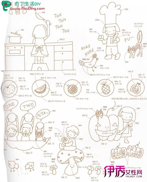 简单可爱的儿童造型的卡通刺绣diy(一)