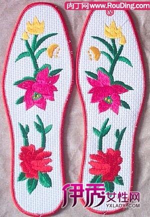 十字绣鞋垫的制作过程