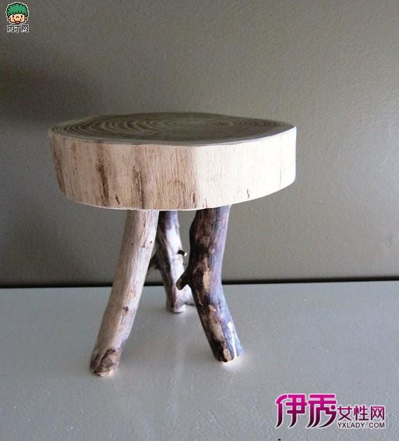 古朴自然的原始风格木制家具创意diy作品欣赏一
