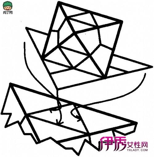 三角形构造的四面体几何体模型复杂折纸