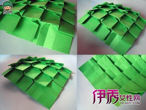 精美的圣诞树折纸——折法详细图解diy