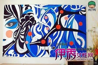 diy强人mm手绘电视背景墙