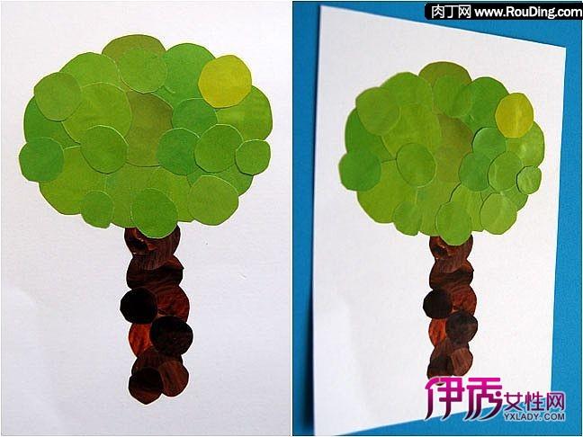植树节自己动手用旧杂志做小树