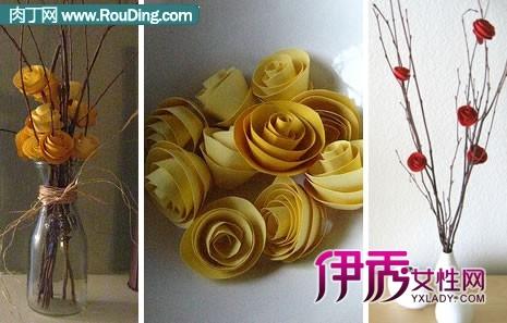 简单的折纸玫瑰花束的做法DIY