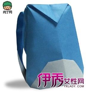 两款折纸书包的做法,书包折纸图解