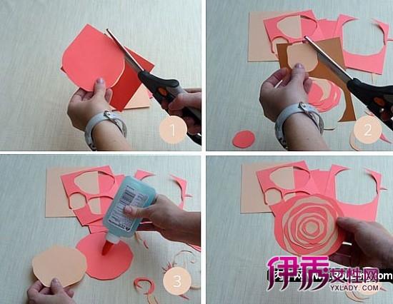 非常适合礼物包装的diy叠纸花方法