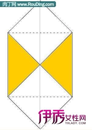 手工折纸盒的折法图解