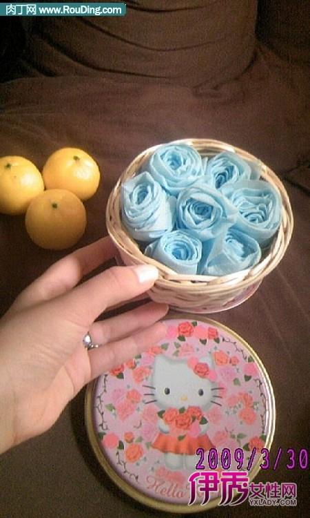 斑点黄布玫瑰花制作 布玫瑰花的做法手工布艺制作