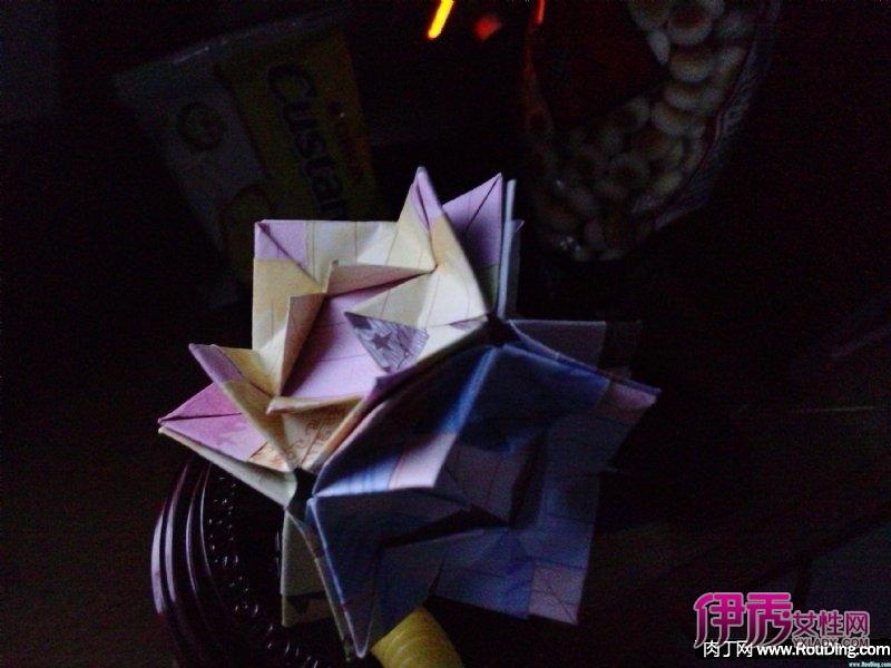 折纸花球教程-花叶收纳盒(第1页)