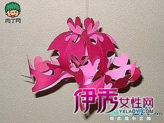 立体剪纸花的剪法 一