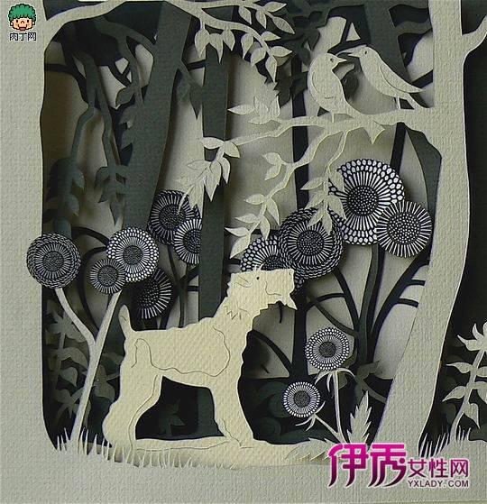 外国纸雕:helenmusselwhite森林系列全立体纸雕艺术欣赏