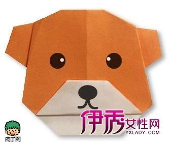 可爱小狗折纸教程