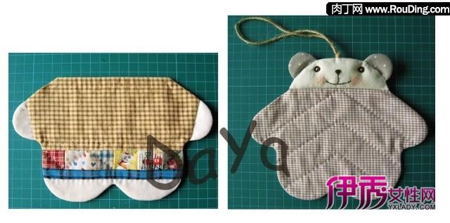 自制可爱简单笔袋-小熊笔袋做法
