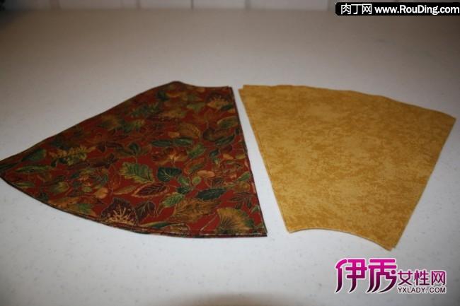 韩国圣诞花环,可爱的布艺印花花环diy制作方法