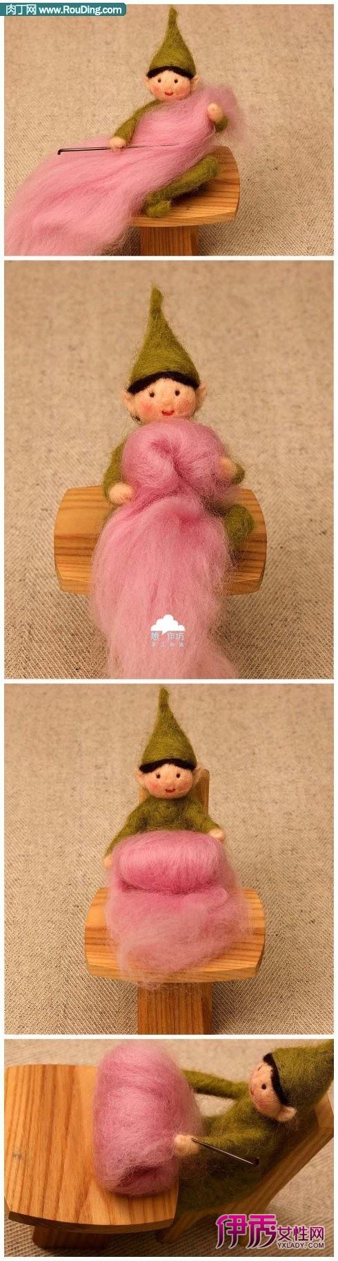 世界上最可爱的羊毛毡手工diy作品