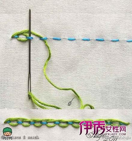一款不常见手缝基本针法diy教程