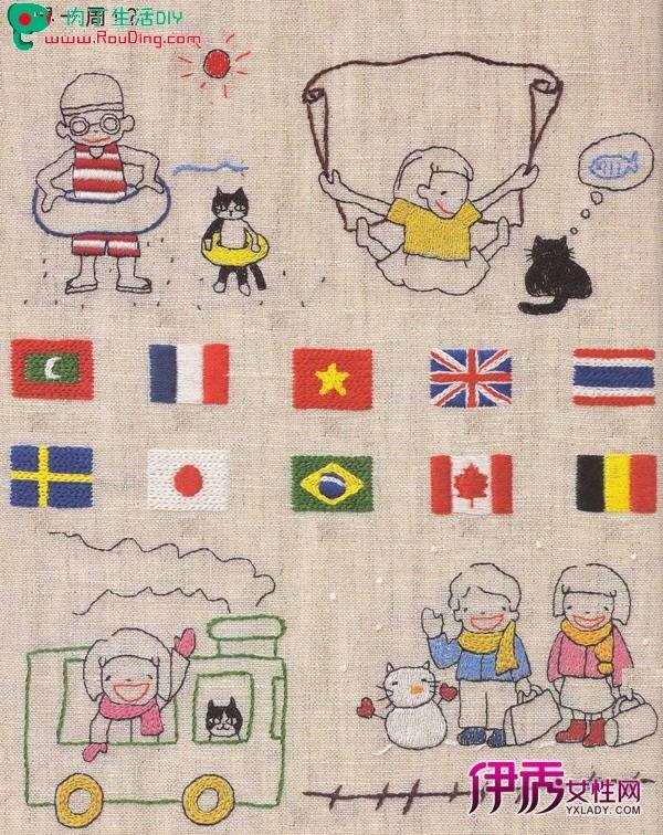 简单可爱的儿童造型的卡通刺绣diy(二)