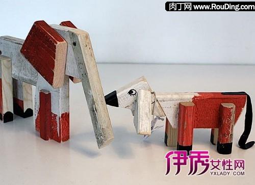 最低碳的废旧木块,木头玩偶制作--一二三木头人
