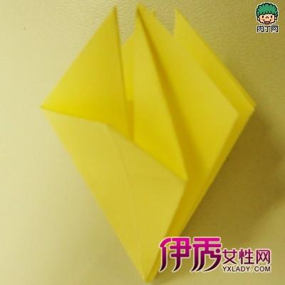 折纸花 美丽百合花折纸手工图解