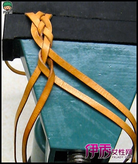 牛皮绳编织装饰皮链手工教程