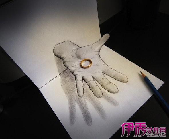 超凶猛的创意3d素描 超高技术的3d铅笔画
