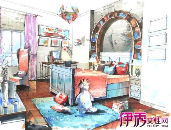 【图】儿童卧室简单手绘图简洁可爱