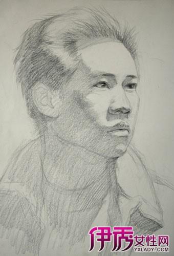 人物头部绘画素描图片