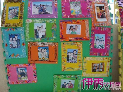 【手工卡纸相框照片墙】【图】手工卡纸相框照片墙