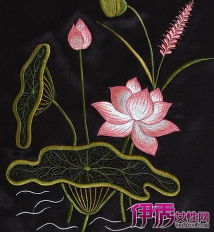 这种刺绣花纹为菱形纹和折角波浪纹