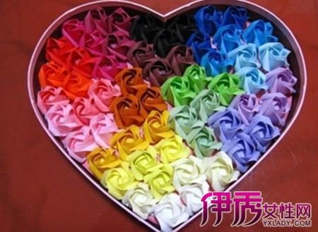 七彩玫瑰包装图片欣赏 七彩玫瑰花语你知道吗